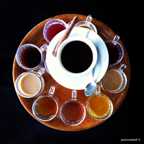 Tea and coffee tasting platter